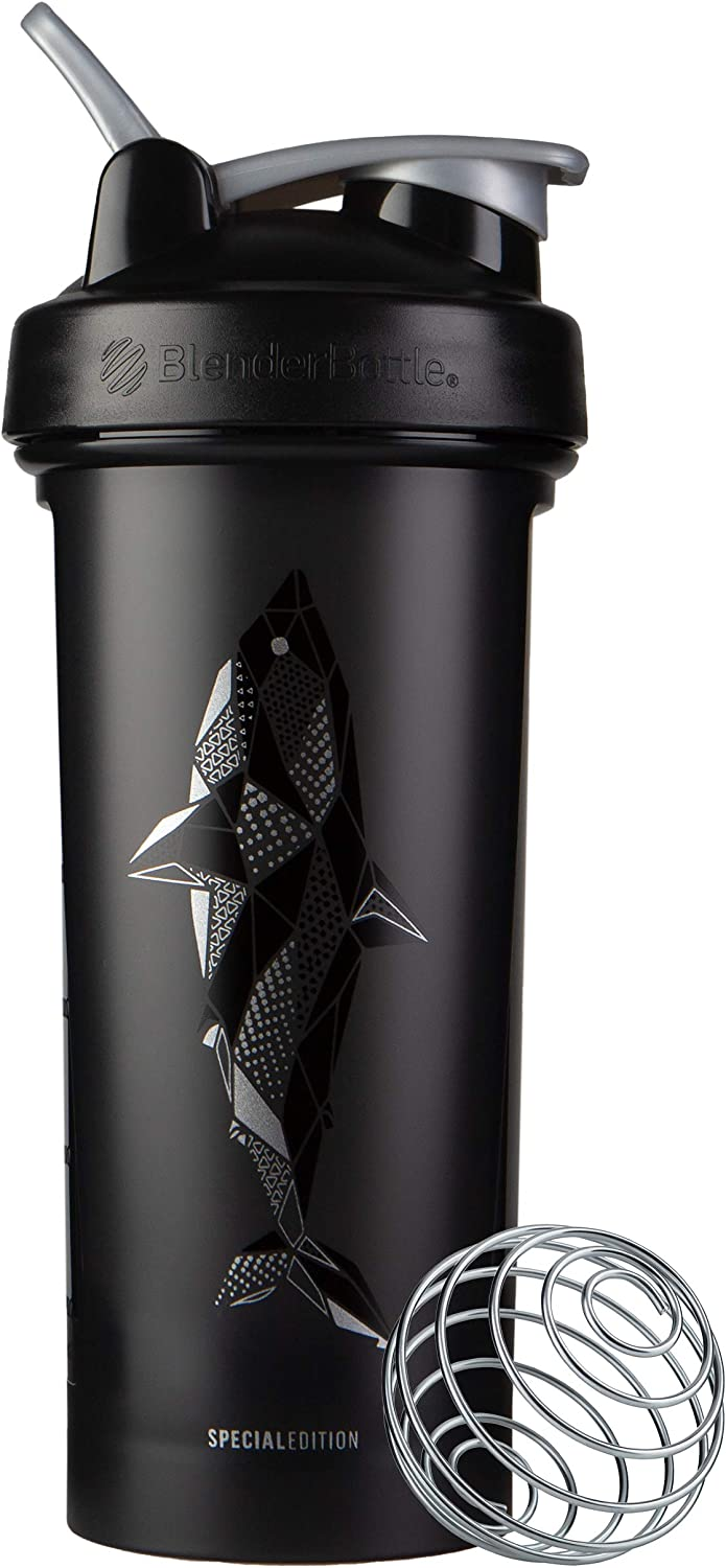 BlenderBottle Animals Special Edition Classic V2 Shaker Bottle, 28-Ounce, Shark