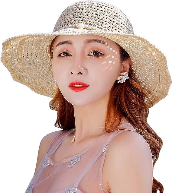Lachi Sombrero para el Sol Mujer Gorras de Playa Gorro de Sol para ...