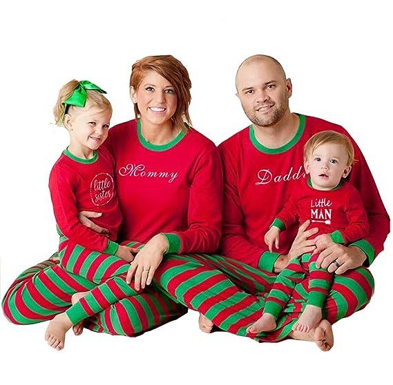 Amazon.com: DingAng Family Striped Christmas Pajamas Matching Set Traditional Sleepwear Sets: Clothing