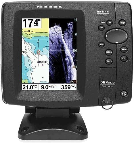 Humminbird sondeur Echo Radar pesca ff587ci hd-di Down Imaging, sonda cuadro trasera & Tarjeta Navionics Francia: Amazon.es: Deportes y aire libre