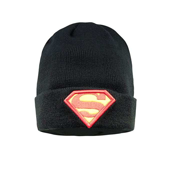 4c21249bcec Addict X DC Comics Official Adults Unisex Superman Beanie (One Size)  (Black) at Amazon Women s Clothing store