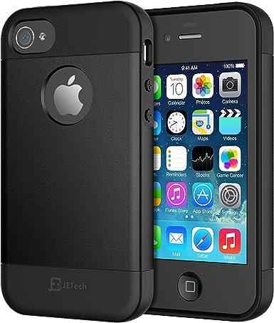 JETech Coque pour iPhone 4S et iPhone 4 - Découpe logo - Noir