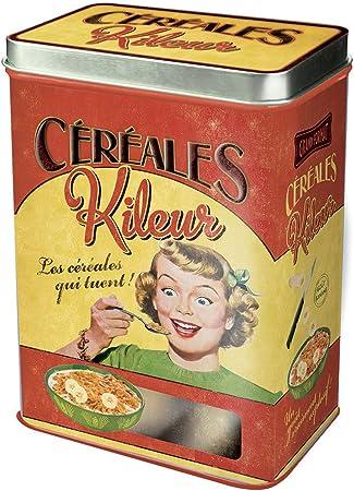 Plaisirs de France Caja para Cereales, Metal, Multicolor, 17x13x23 ...