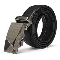 Hombre Cinturon - TOOGOO(R)Lujo Negro Cuero Automatico Informal Hombre Pretina Correa de cintura Cinturon