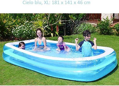 Sorlakar - Piscina hinchable familiar para niños y adultos, ideal para relajarse y para celebrar fiestas acuáticas veraniegas al aire libre, piscina hinchable fácil de montar para patio trasero -xl: Amazon.es: Deportes