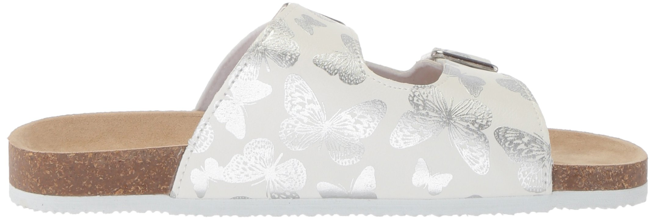 The Children's Place Girls' BG Butterfly LUN Flat Sandal, White, Youth 11 Medium US Big Kid by The Children's Place (Image #6)