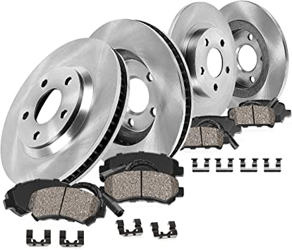 BLACK HART DRILLED SLOTTED BRAKE ROTORS /& PADS BMW X5 2000-2003 3.0i FRONT
