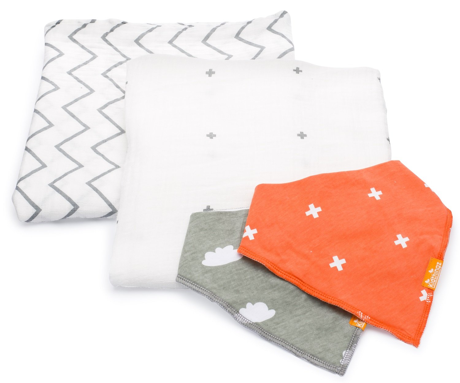 Swaddle blanket Set - Luxurious Pure Organic Cotton For Baby Comfort -Softest Muslin Receiving Blankets – Bonus Baby Bib Set and E Book Smarthingz Ltd SWK-001-17