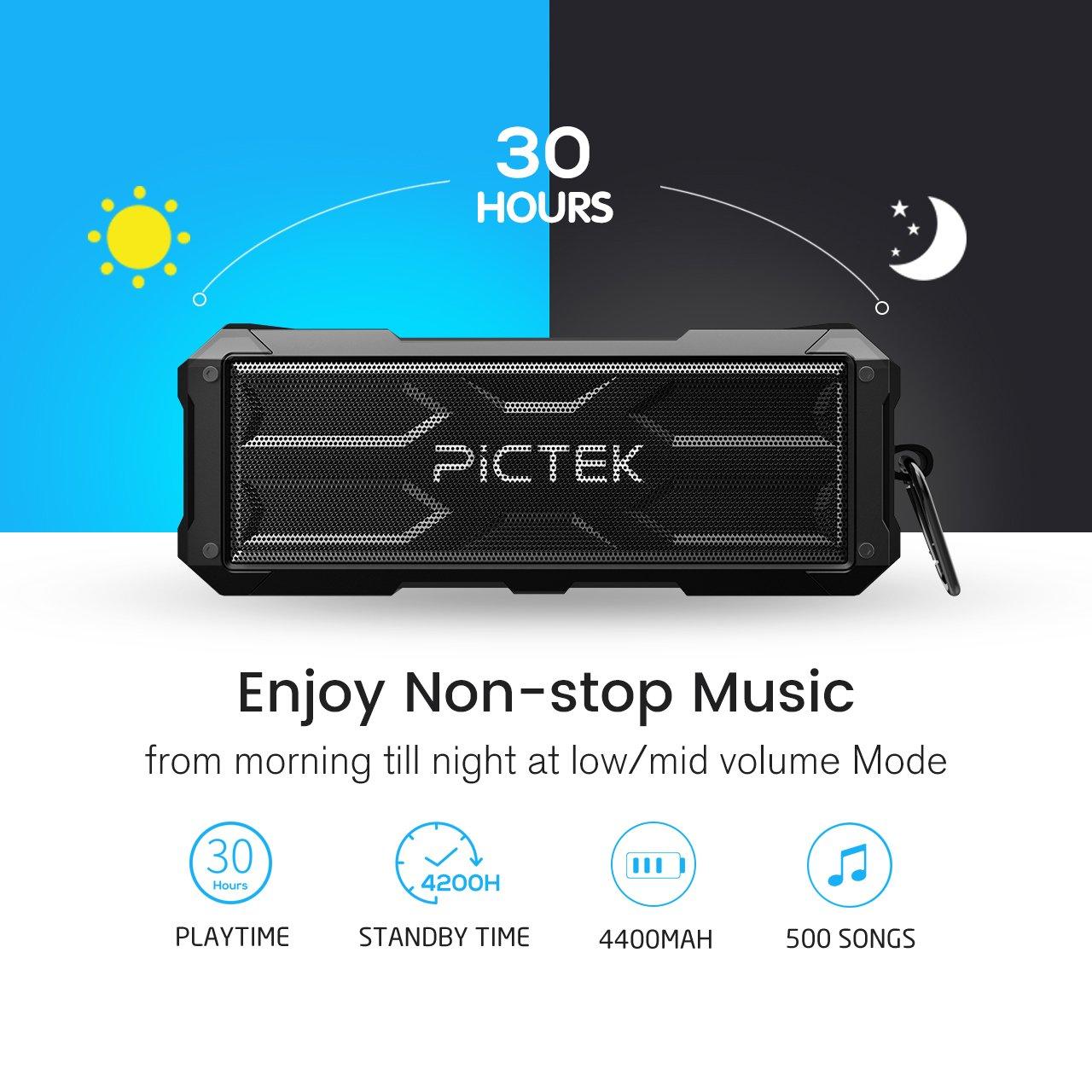 Bluetooth Lautsprecher, [ 20W 30Stunden 4400MAH ] Pictek Wireless ...