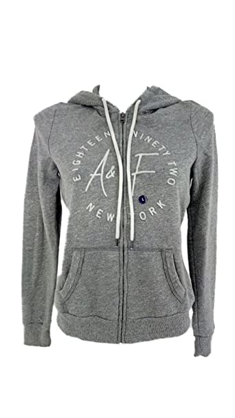 Abercrombie & Fitch - Sudadera con Capucha - para Mujer Gris L