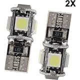 2x T10 Ampoules LED W5W 5 SMD 5050 Canbus SANS ERREUR Anti ODB Blanc Froid Lampe Veilleuse Lumiere Voiture 1W LED Lampe