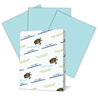 Hammermill Paper, Colors Blue, 24lb., 8.5x11, Letter,  500 Sheets / 1 Ream, (103671R), Made In The USA