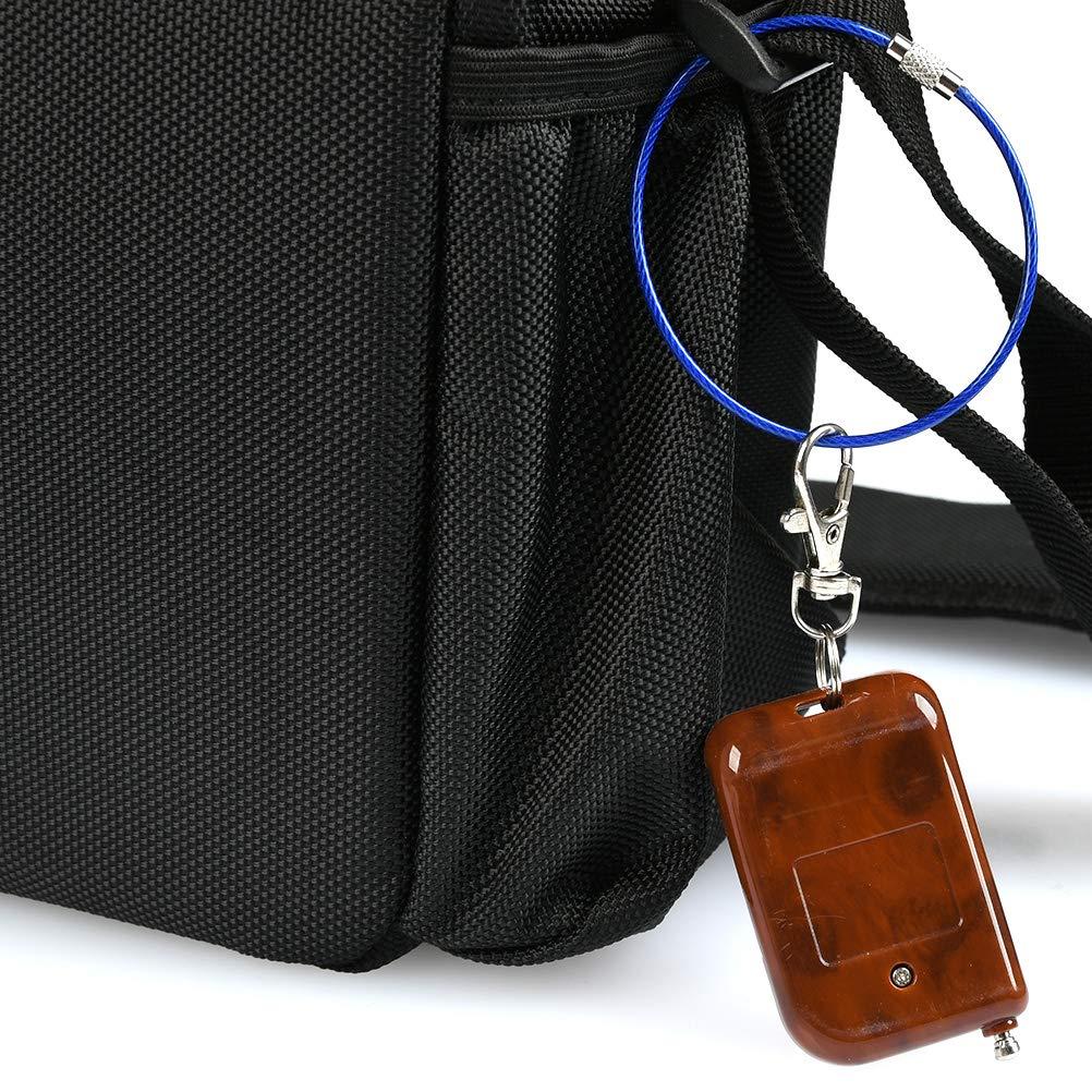 YOTINO 38pcs Llaveros de Alambre Aro Cable Llavero 2mm Porta Materiales de Acero Alambre Acero Inoxidable Cable Llavero Colgar Etiqueta Equipaje de Identificaci/ón