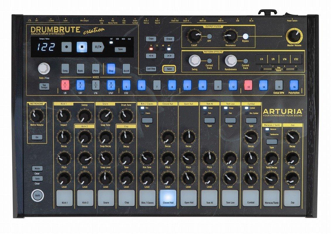 ARTURIA アートリア/DrumBrute Creation Edition アナログドラムシンセサイザーB07FBFTM85
