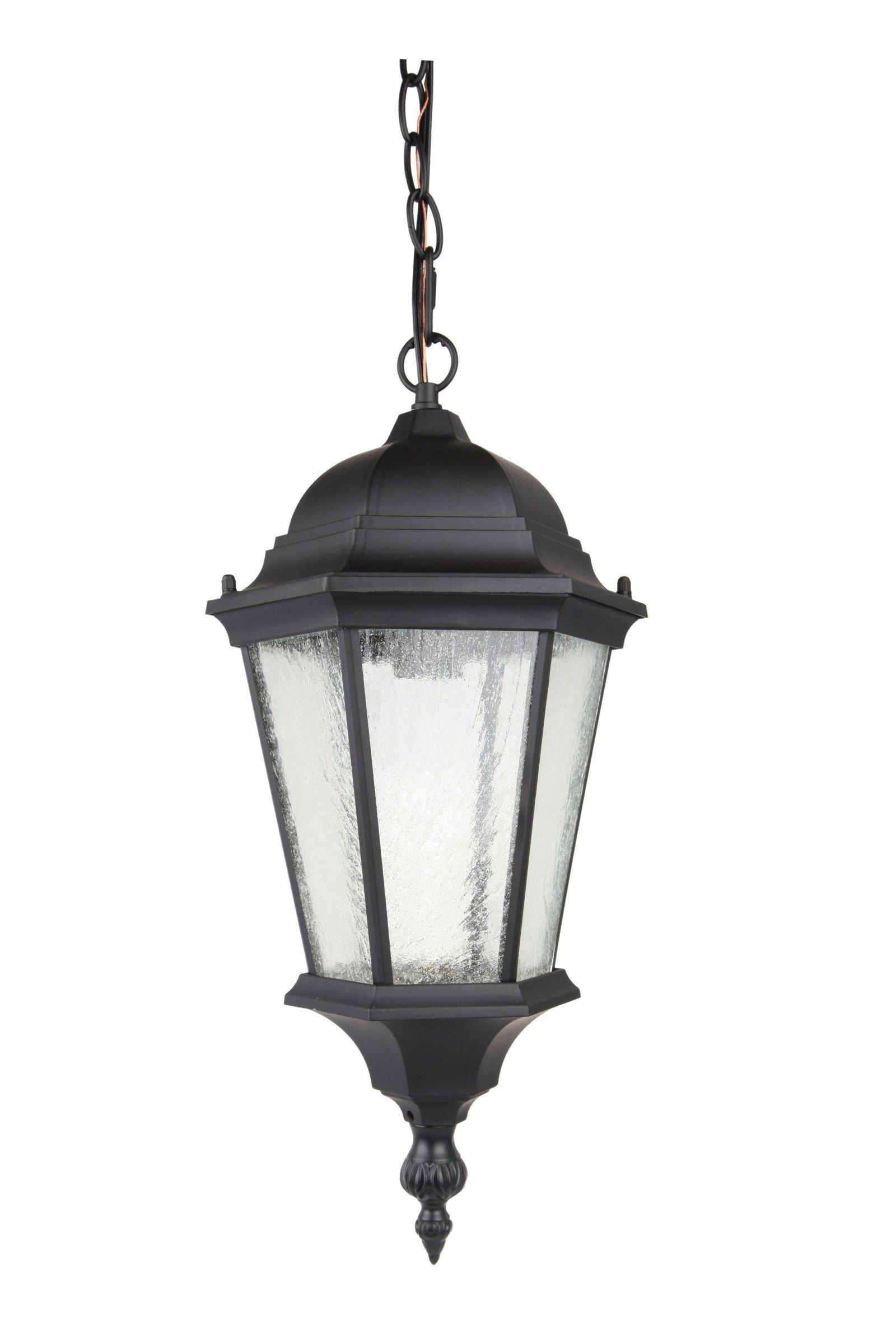 Elitco Lighting OD2602 Black-Light-Fixtures Outdoor Hang D8'' H20.25'' E26 100W