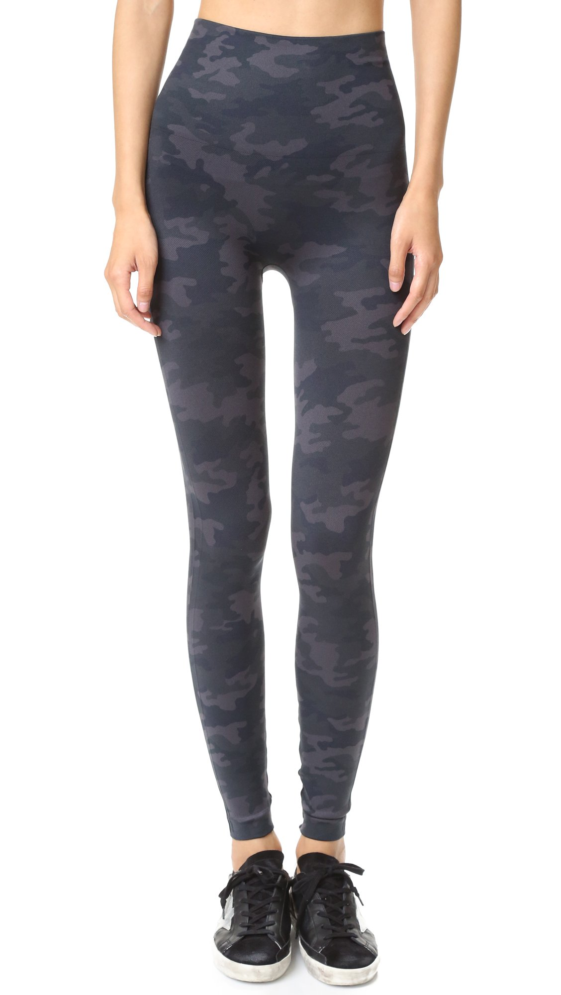 Spanx Look at me Now Seamless Leggings, Black Camo, X-Small