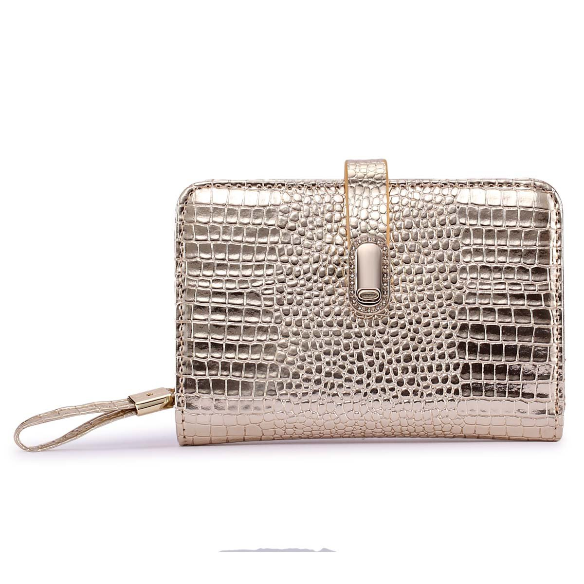 Crocodile Genuine Leather Women Short Wallets Female Small Sliver Purse