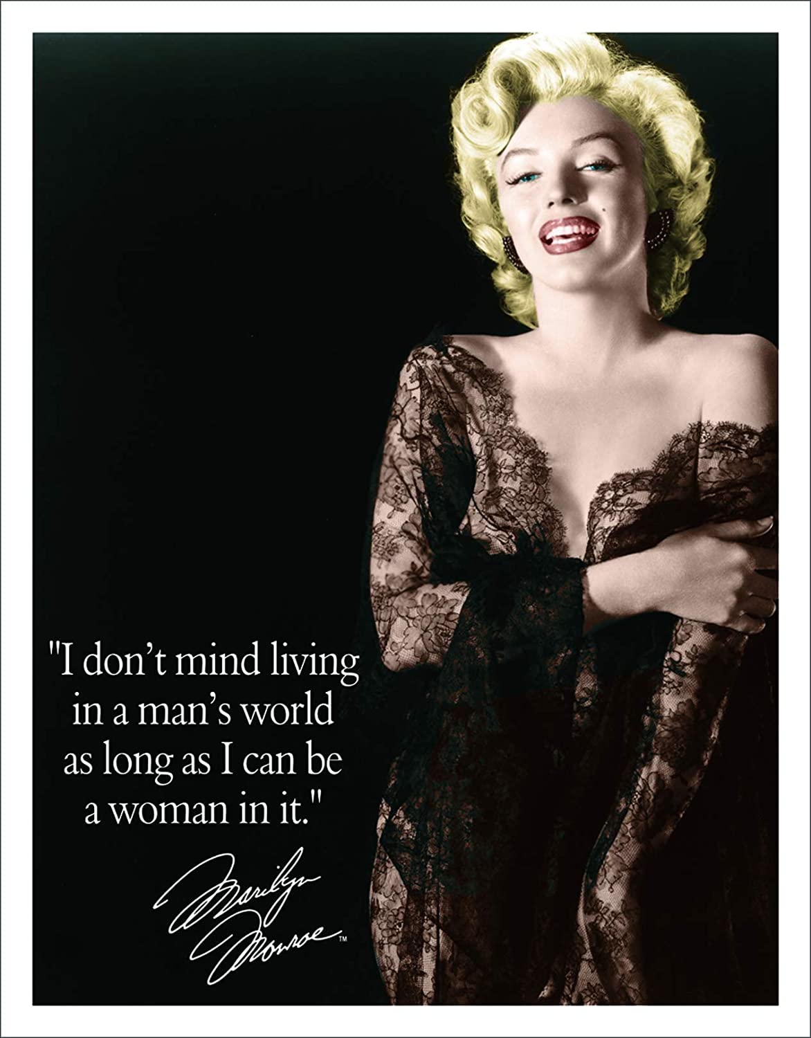 Marylin Monroe quote black and white decorative metal sign tin wall door plaque