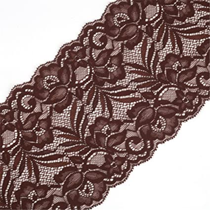 Bouquet Pattern Embroidered Lace Trim Elastic Lace Sewing DIY Ribbon 5 Yards