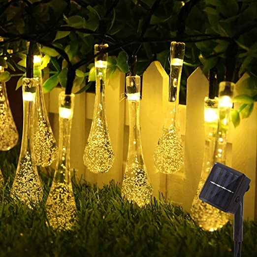 Guirnalda Luces Exterior Solar Cadena de Luces, 30 LED 6.5M IP65 Impermeable 8 Modos Luces Decorativas, Guirnalda Luces para Exterior,Interior, Jardines, Casas, Boda, Fiesta de Navidad (Blanco Calido): Amazon.es: Iluminación