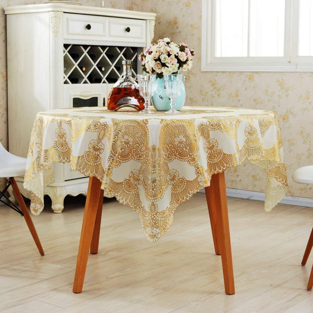 Shuangdeng 格子テーブルクロスホテルのテーブルクロスのスタイルテーブルクロス (Color : A, サイズ : 137x137cm(54x54inch)) 137x137cm(54x54inch) A B07S98T5SW