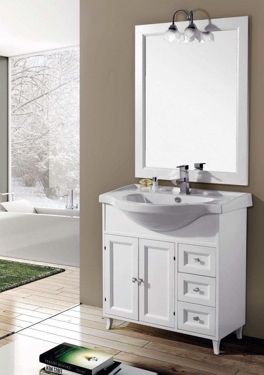 mobile da bagno con lavabo e specchio Ilaria 85 cm Arredamento da ...
