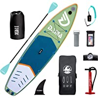"""DAMA Inflatable Stand Up Paddle Board 11'x33""""x6"""", Inflatable Yoga Board, Dry Bags, Camera Seat, Floating Paddle, Hand…"""