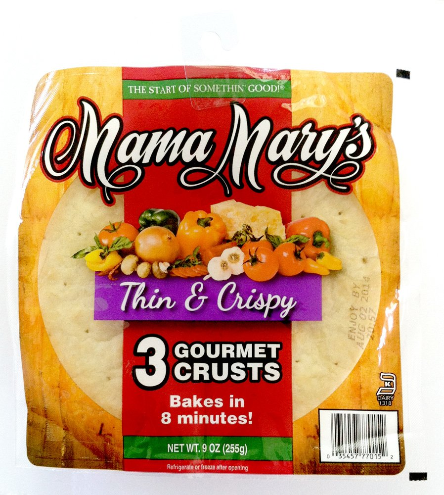 MAMA MARYS PIZZA CRUST 7IN THN CRSP, 9 OZ by Mama Mary's (Image #1)