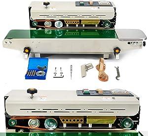 Automatic Continuous Sealing Machine Food Sealer Horizontal food saver sealer machine FR900 Bag Sealer Machine for PVC Bags Films 110V