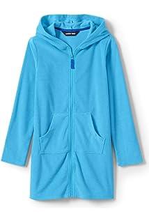 1252854d10383 Amazon.com: Lands' End Girls Kangaroo Pocket Swim Cover-Up: Clothing