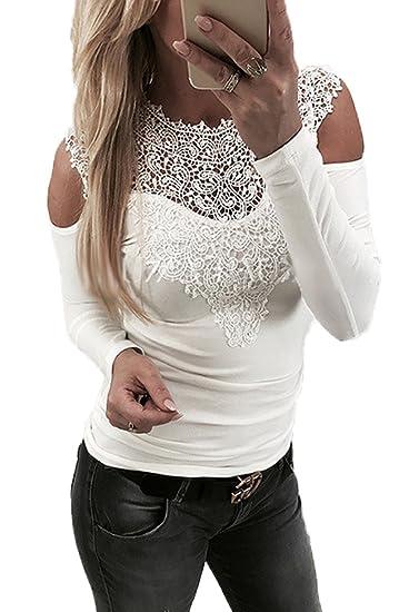 YMYY-Kleider Verano Mujer Tops Sexy Sin Espalda Camisetas de Manga Larga Blusas Remata Joven