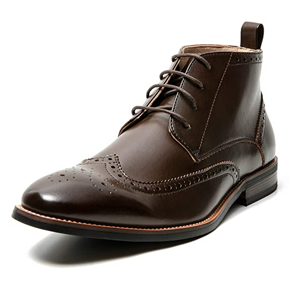 Men's Oxford Dress Leather Lined Cap Toe Angle Boots