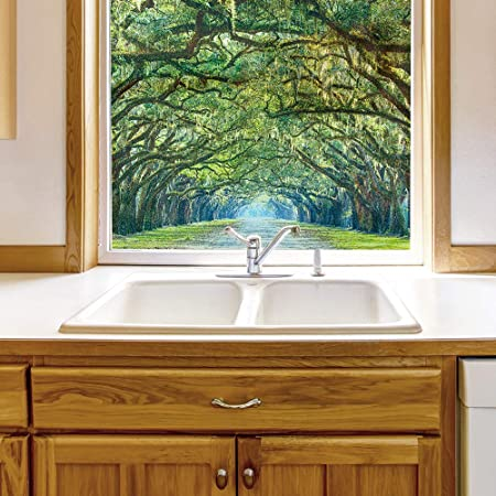 decorative glass bathroom windows amazon com wall26 window film for privacy large nature scenery  amazon com wall26 window film for