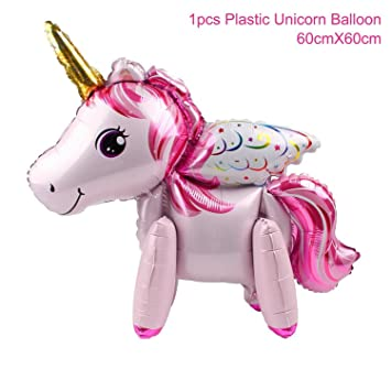 foil unicorn balloons decorations kids happy birthday letter party decor baby shower style 7