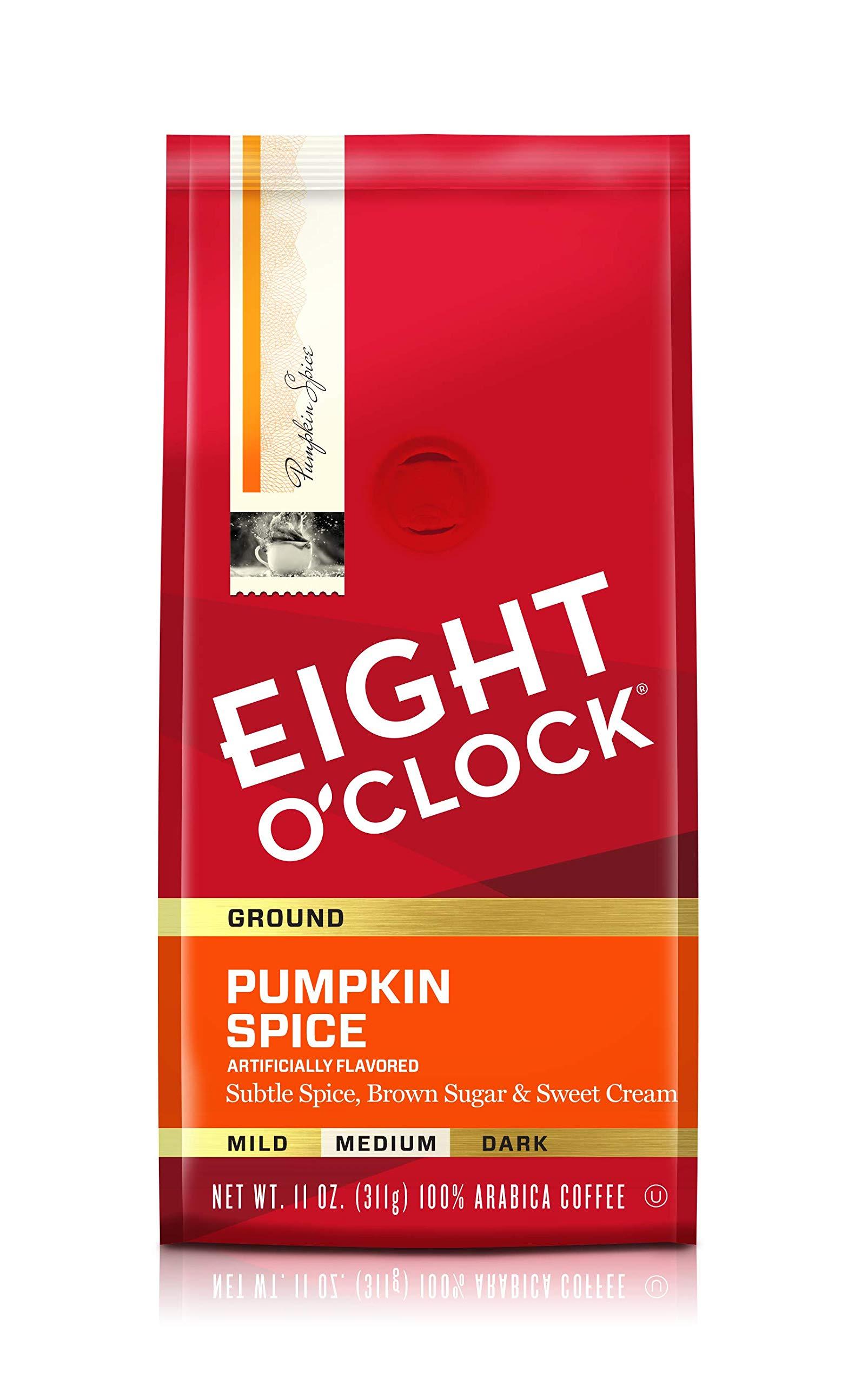 Eight O'Clock Ground Coffee, Pumpkin Spice, 11 Ounce