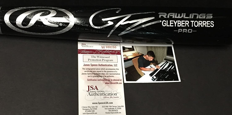 Gleyber Torres New York Yankees Autographed Signed Black Baseball Bat JSA WITNESS COA