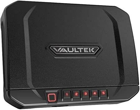 VAULTEK VT20i Biometric Handgun Bluetooth Smart Safe Pistol Safe with Auto-Open Lid and Rechargeable Battery