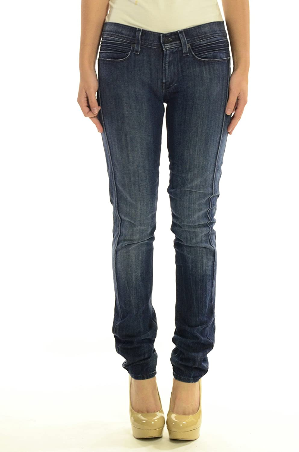 7 For All Mankind Women's Roxanne Skinny Jeans, Montclare Dark Wash, 26