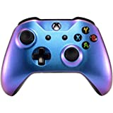 eXtremeRate Purple and Blue Chameleon Front Housing Shell Faceplate for Microsoft Xbox One X & One S Controller Model…