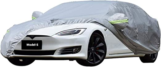 WJQSD B/âche Voiture Housse de Housse De Protection Tesla S-Model Sp/écial Cr/ème Solaire Anti-Pluie Antipoussi/ère Ombre Isolation /Épaississement Four Seasons Universal Anti Gel All Season