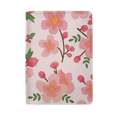 THUNANA Cute Flower Pattern Travel PU Leather Passport Holder Case Cover For Women Men Kids