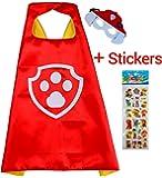 Paw Patrol Marshall Cape und Maske - Superhelden-Kostüme für Kinder - Kostüm für Kinder von 3 bis 10 Jahre - für Superheld Mottopartys! Spielsachen für Jungen und Mädchen - King Mungo - KMSC015