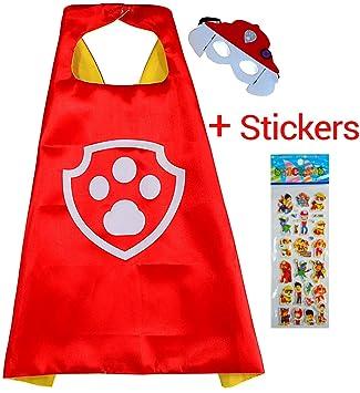 Paw Patrol Marshall Cape y máscara - Super Héroes de disfraces para niños - Disfraz para