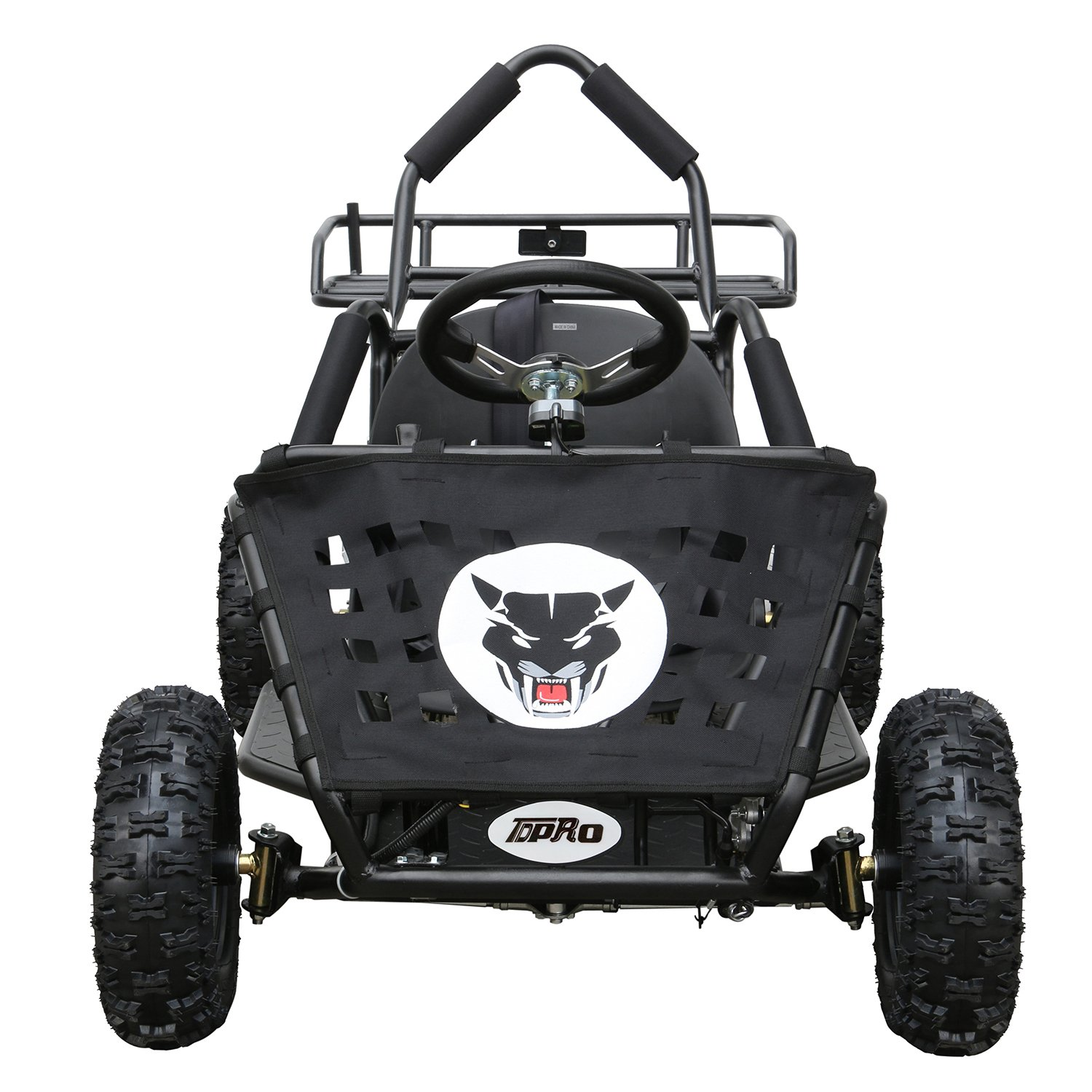 JCMOTO Electric Go Karts For Kids 4 Four Wheelers Off Road Tire 48v 1800w Black (Upgraded versions) by JCMOTO (Image #2)