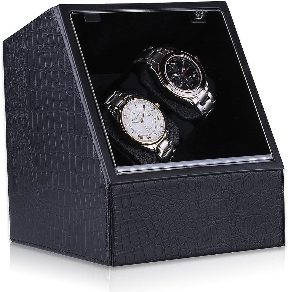 critiron Coffret Watch Winder de Reloj automático Clasico – Expositor de Madera con candado para Varios Relojes: Amazon.es: Relojes