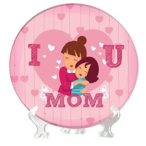 Buy Yaya Cafe 6 Inches I Love You Mom Decorative Plate From Daughter