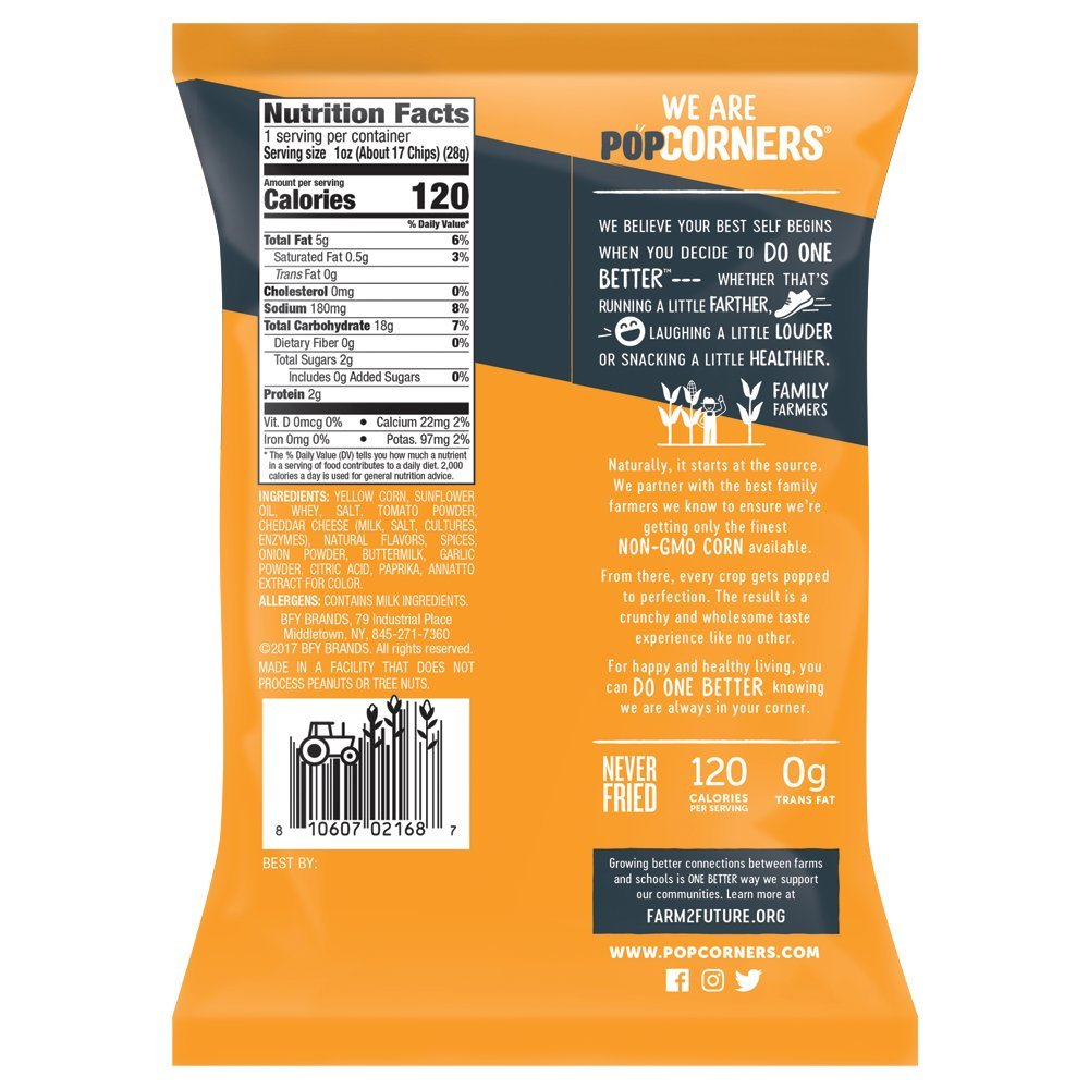 PopCorners Spicy Queso Snack Pack | Gluten Free Snack | (40 Pack, 1 oz Snack Bags) by Popcorners (Image #2)