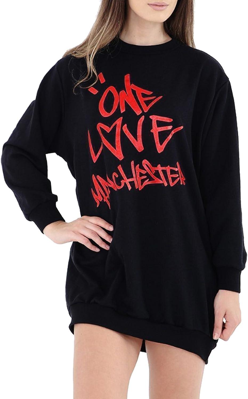 I Love Manchester T-shirt I Love Heart MCR Ladies Women Slogan Clothing Gift