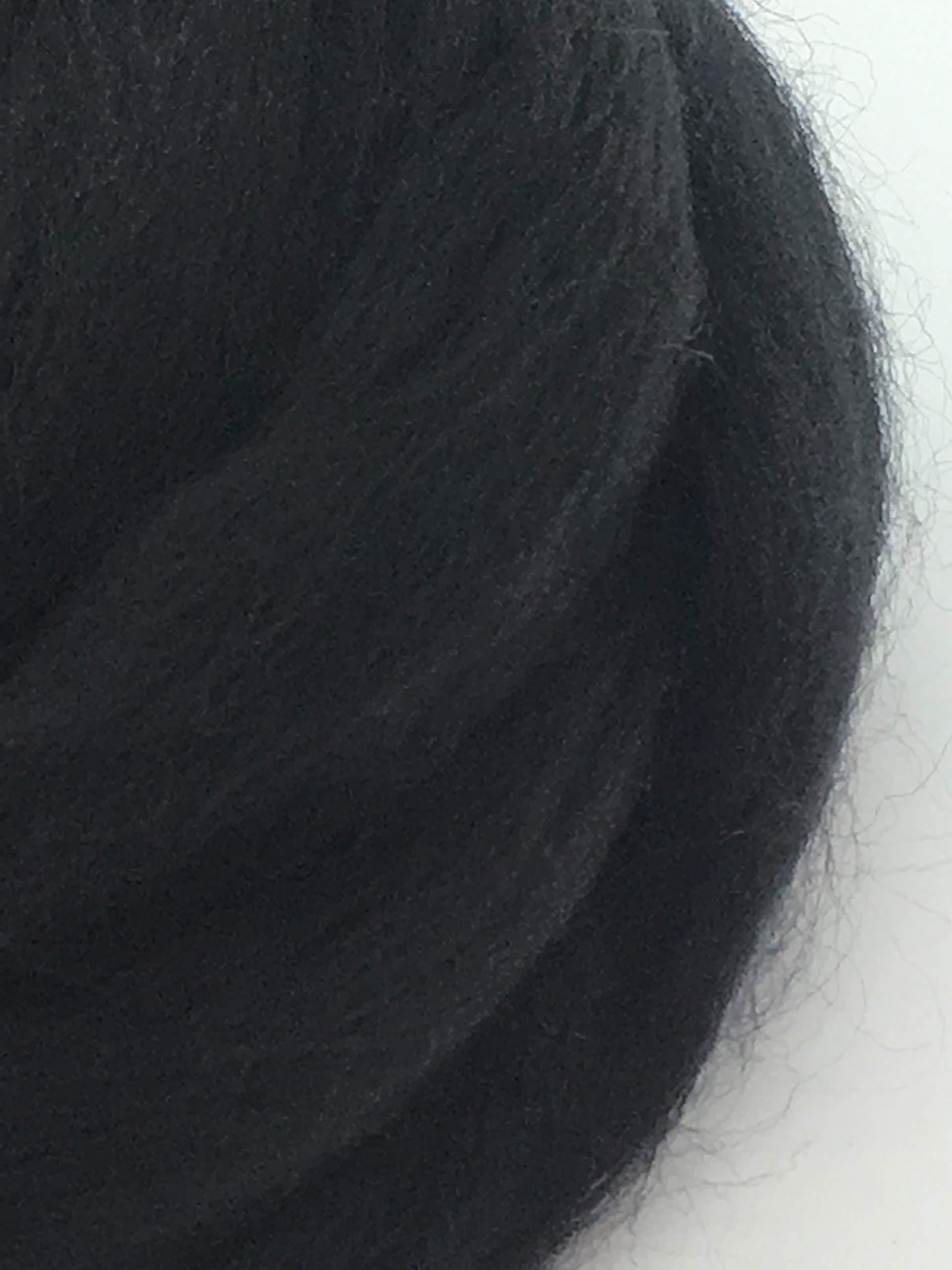 Black Noir Wool Top Roving Fiber Spinning, Felting Crafts USA (2lb)