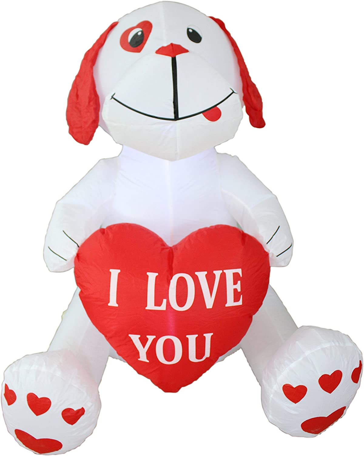 BZB Goods 4 Foot Inflatable Puppy Dog, Great for Anniversary, Wedding and Valentine's Day Party Decoration LED Blow Up Lighted Decor Indoor Outdoor Holiday Art Decor Decorations